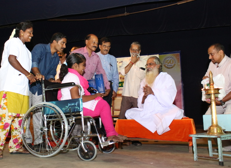IVPT provides wheelchair to chennai flood victim
