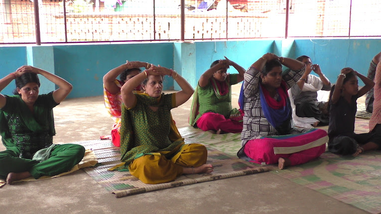Teaching LTC Yoga in Slum