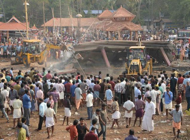 Kollam Temple destruction